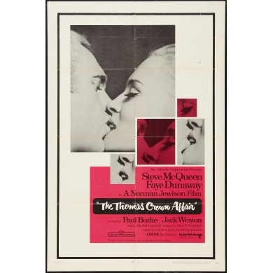 Affiche du film l' affaire Thomas Crown de Norman Jewison 1968