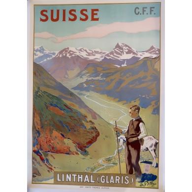 Poster Suisse Linthal Glaris