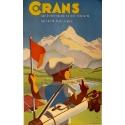 Crans sur Sierre Valais.Suisse 1500M. Golf Alpin.Plage.Tennis