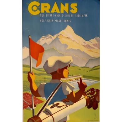 Vintage poster of Crans sur Sierre Valais