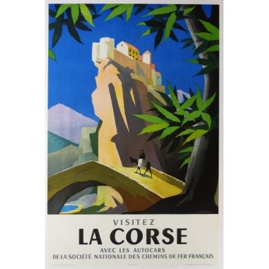 Poster Visitez la Corse
