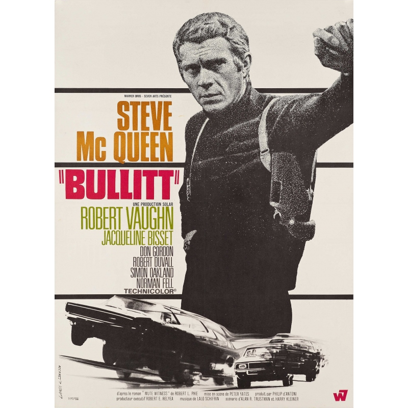 Original movie poster BULLIT 1968