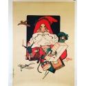 Affiche Père Noël Paris 1900 par Teddy