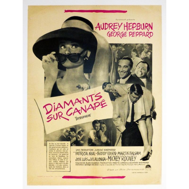 Affiche originale du film diamants sur canap r alis par for Diamants sur canape