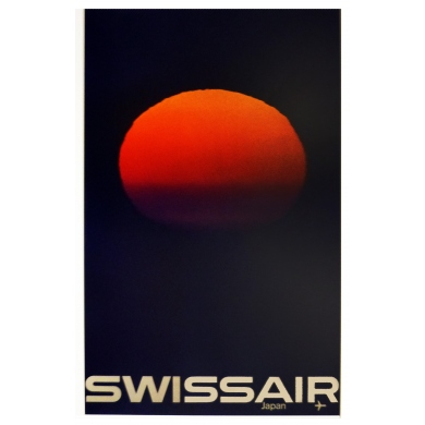 Poster Swissaire - Japan