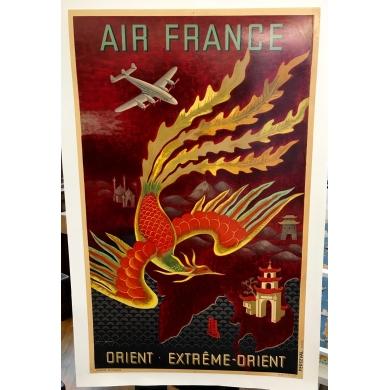Poster Air France Extrême Orient