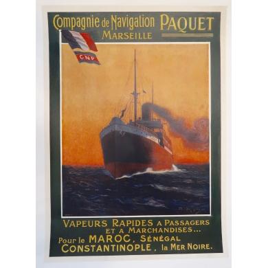 Affiche Compagnie de Navigation PAQUET