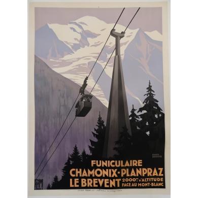 Poster Chamonix - Planpraz 1928
