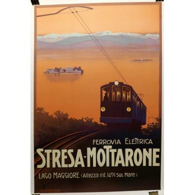 Affiche ancienne Stresa-Mottarone 1930