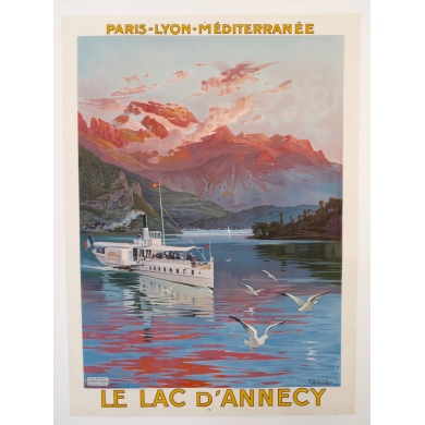 Poster Annecy Lake 1910