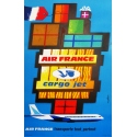 AIR FRANCE cargo jet orignal french poster by nathan
