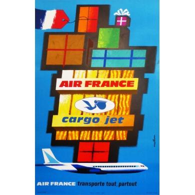 AIR FRANCE cargo jet affiche originale