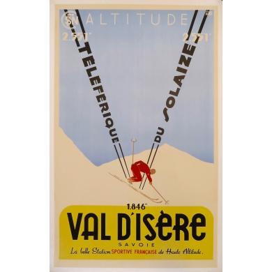 Affiche ancienne de France Val d'Isère
