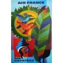 Affiche AIR FRANCE les CaraÏbes 60 x 80 cm illustration de Nathan