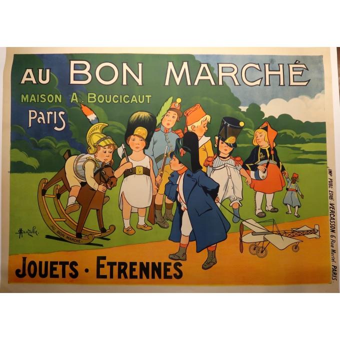 Affiche ancienne - Le Bon Marché - Marcellin Auzolle - 1905