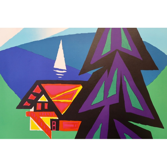 Affiche ancienne de voyage - Auriac - M.E.A Switzerland - Circa 1960 - 3