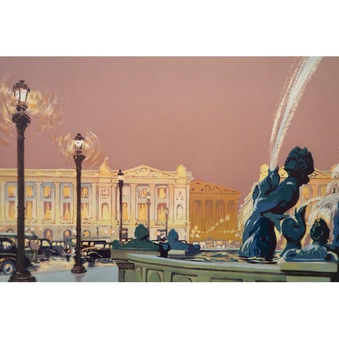 Affiche ancienne - Paris - Julien Lacaze - 1930 - 2