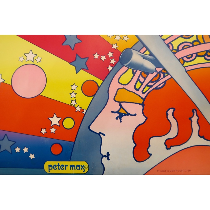 Vintage travel poster - Peter Max - Panam 747 - 1969 - 2