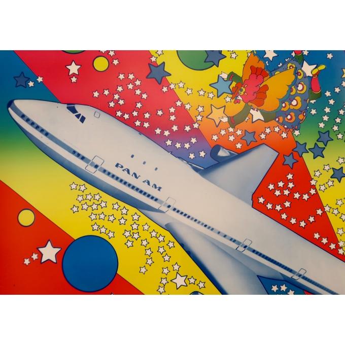 Affiche ancienne de voyage - Peter Max - Panam 747 - 1969 - 3