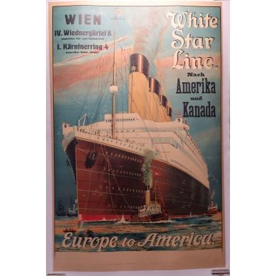 Affiche White Star Line 1912