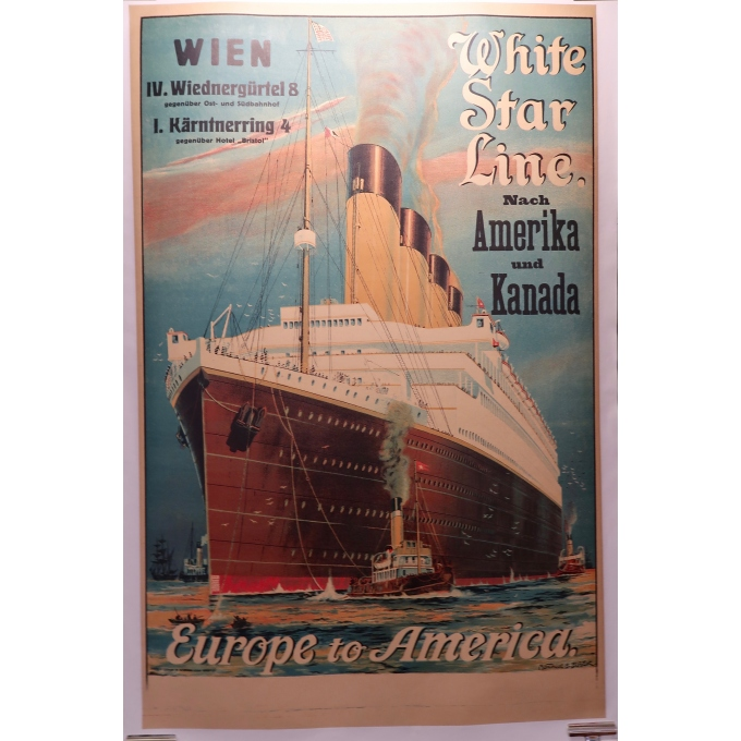 Affiche ancienne - White Star Line - 1912 - Montague B Black