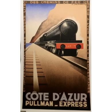 Affiche ancienne de voyage de Pierre Fix Masseau Côte d'Azur 1929