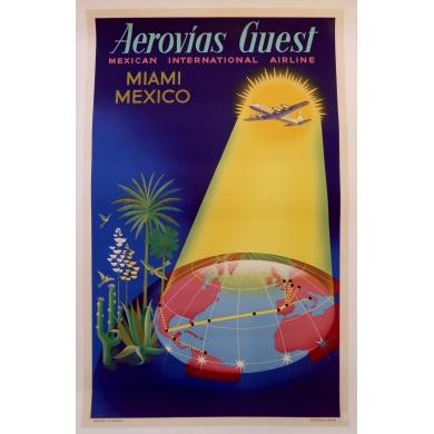 Affiche Aerovias Guest