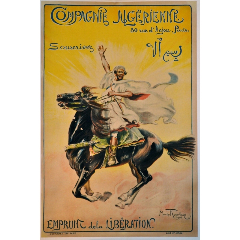 Original poster of the Compagnie algérienne - Liberation loan