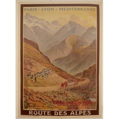Poster Route des Aples (France) 1912