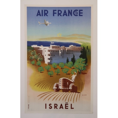 Poster Air France Israël by Even