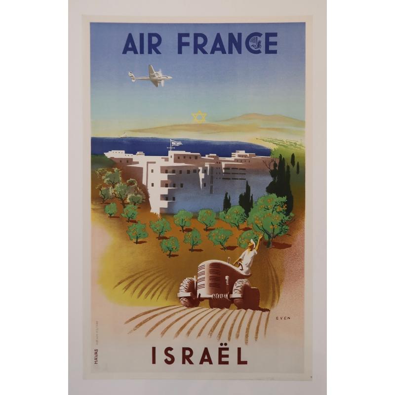 Affiche Air France Israël de Even