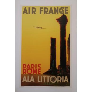 Poster Air France Paris Rome