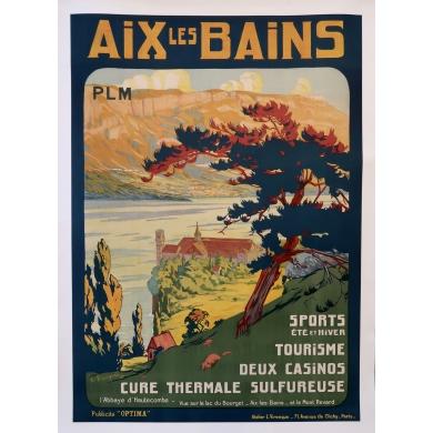 Affiche PLM Aix Les Bains (1920)