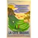 Visitez la cote Basque affiche signée par Villemot