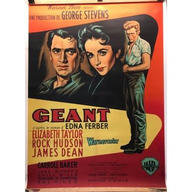 Vintage movie poster Géant (1957)
