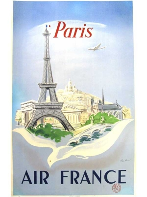 Vintage tourism posters of France